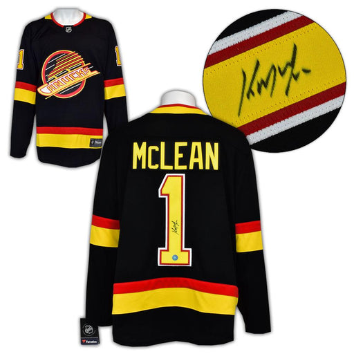 Kirk Mclean Autographed Fanatics Skate Vancouver Canucks 94 Home Jersey - Pastime Sports & Games