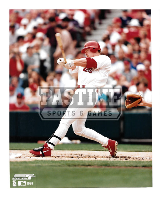 Mark Mcguire 8X10 St. Louis Cardinals (Swinging Bat Pose 5) - Pastime Sports & Games