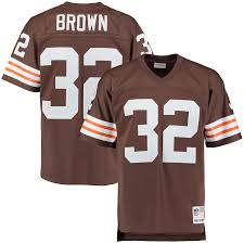 Jim Brown Cleveland Browns Football Jersey (Vintage Brown M&N)