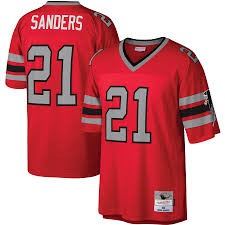 Deion Sanders Atlanta Falcons Football Jersey Mitchell & Ness - Pastime Sports & Games