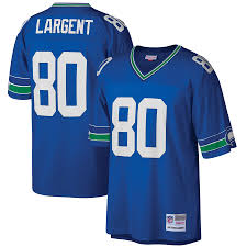 Steve Largent Seattle Seahawks Football Jersey (Vintage Blue M&N) - Pastime Sports & Games