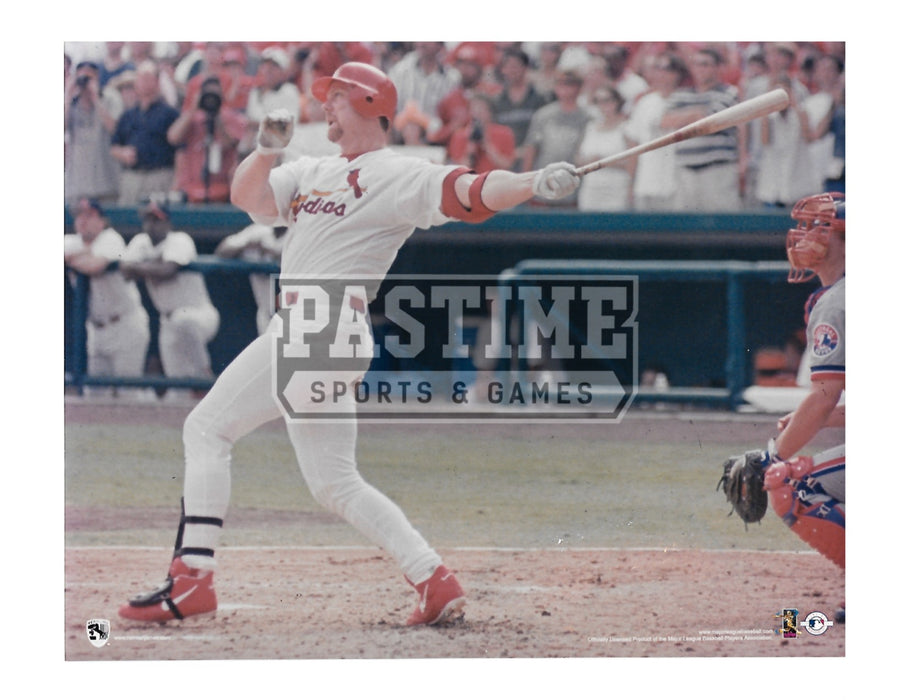Mark Mcgwire 8X10 St. Louis Cardinals (Swinging Bat Pose 4) - Pastime Sports & Games
