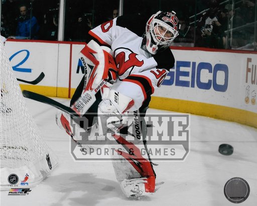 Martin Brodeur 8X10 Devils Away Jersey (Shooting Puck) - Pastime Sports & Games