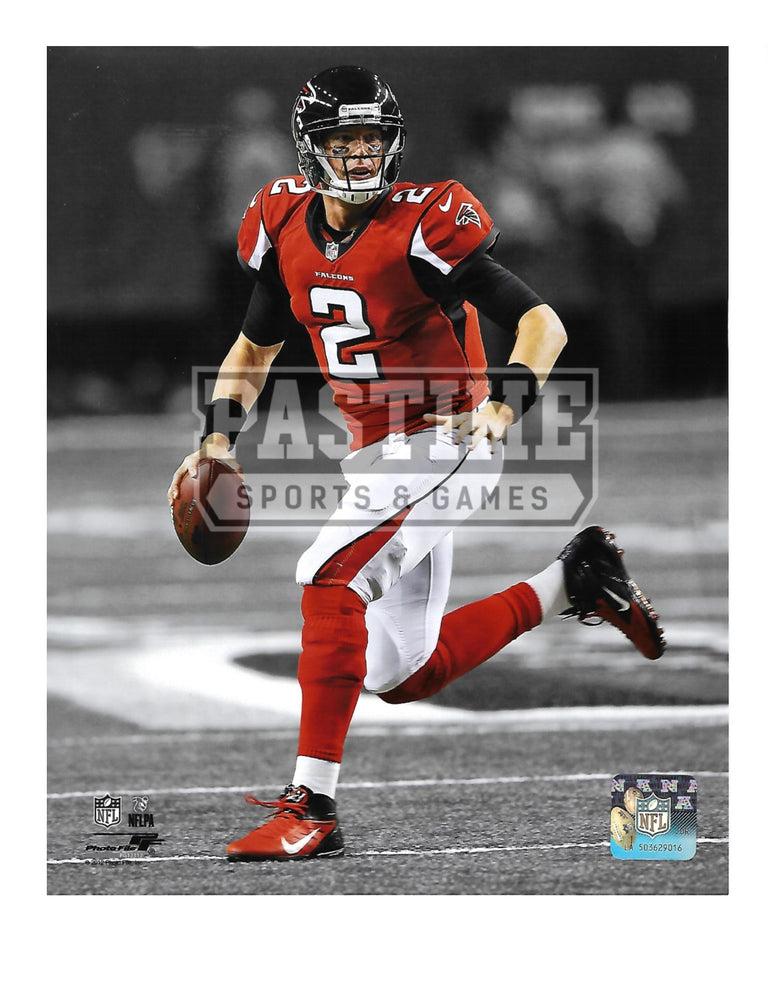 Matt Ryan 8X10 Atlanta Falcons Home Jersey (Running With Ball) - Pastime Sports & Games