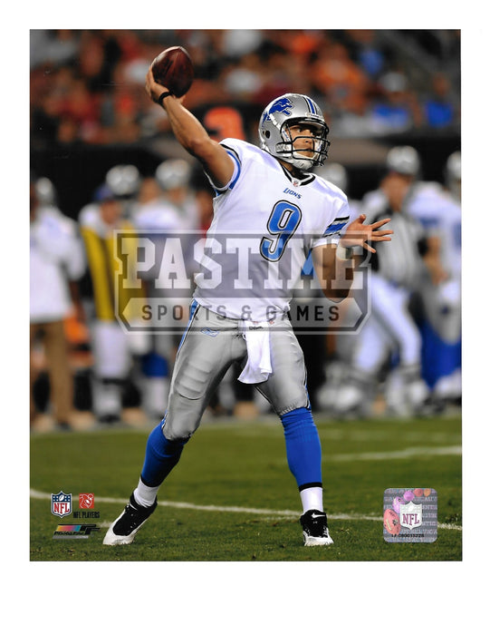 Matthew Stafford 8X10 Detriot Lions Away Jersey (Throwing Ball) - Pastime Sports & Games