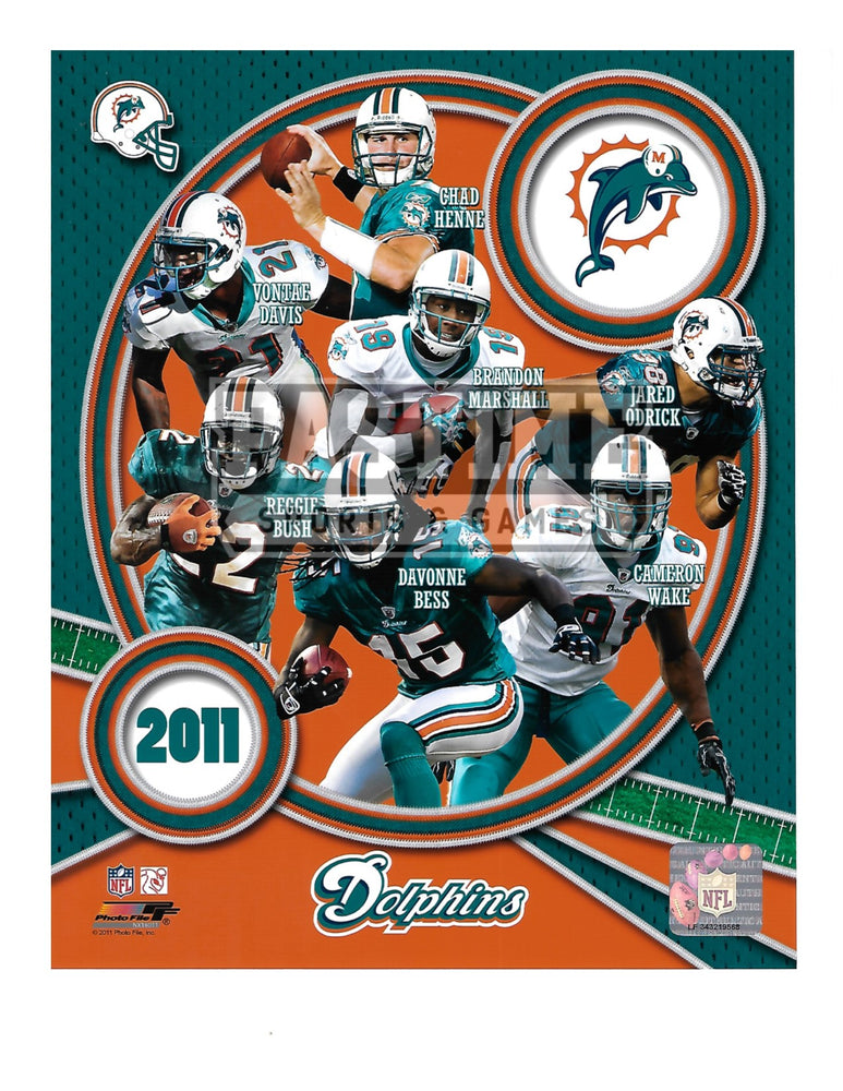 Miami Dolphins 8X10 Player Montage (2011) - Pastime Sports & Games
