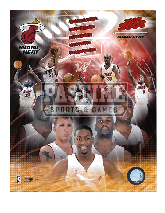 Miami Heat 8X10 Photo Montage (2005/06) - Pastime Sports & Games