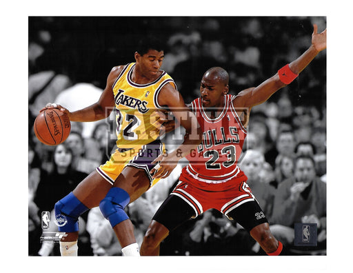 Michael Jordan 8X10 Chicago Bulls (Against Opposing Player) - Pastime Sports & Games
