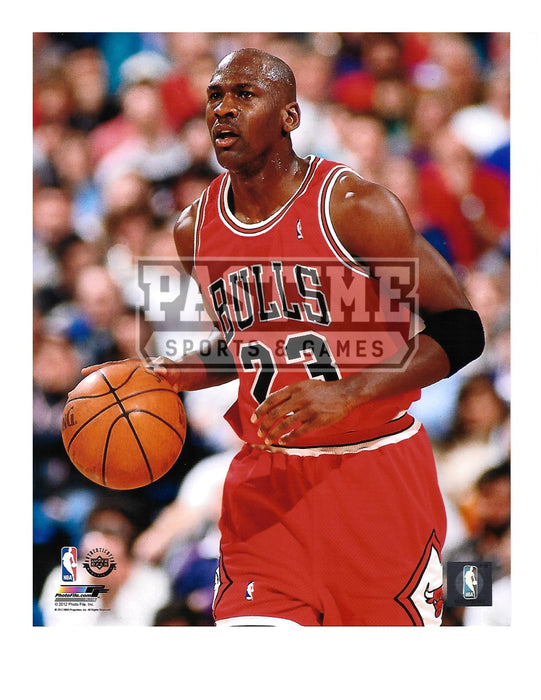 Michael Jordan 8X10 Chicago Bulls (Dribbling Ball) - Pastime Sports & Games