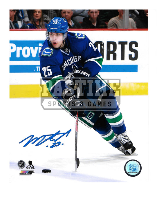Mike Santorelli Autographed 8X10 Vancouver Canucks Home Jersey (Skating) - Pastime Sports & Games