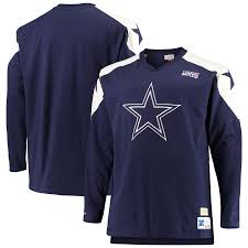 Dallas Cowboys Football Inspired Long Sleeve Sweater (Navy M&N) - Pastime Sports & Games