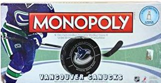 Vancouver Canucks Monopoly - Pastime Sports & Games