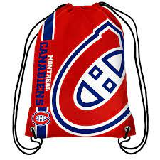 Montreal Canadians Drawstring Bag Hockey (Red FOCO) - Pastime Sports & Games