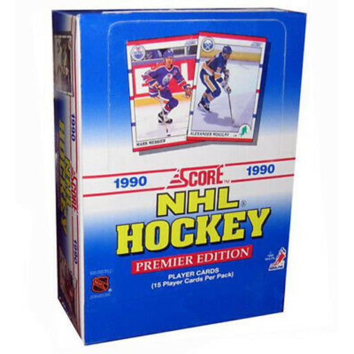 1990/91 Score Hockey Premier Edition Hobby American Box - Pastime Sports & Games