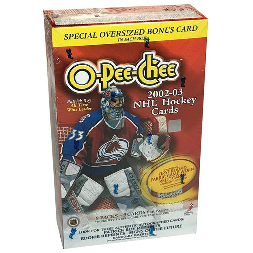 2002/03 O-Pee-Chee Hockey Blaster Box - Pastime Sports & Games