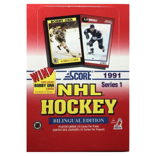 1991/92 Score Series One Bilingual Edition Hockey Hobby Box - Pastime Sports & Games