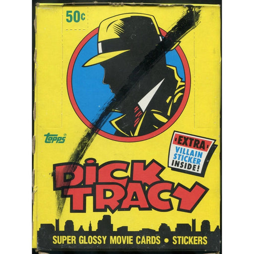 1990 Dick Tracy Super Glossy Movie Card Stickers - Pastime Sports & Games