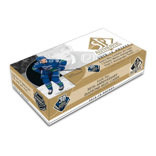 2018/19 Upper Deck SP Authentic Hockey Hobby Box - Pastime Sports & Games