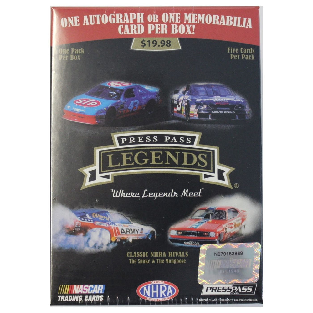 2012 Press Pass Legends Nascar Blaster Box - Pastime Sports & Games