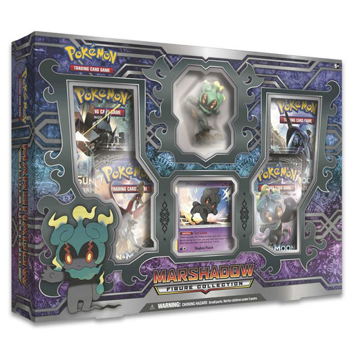 Pokemon Marshadow Figure Collection includes 4 booster (Ancient Origins, Steam Siege, Crimson Invasion x2) - Pastime Sports & Games