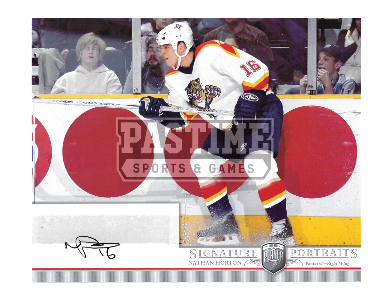 Nathan Horton Autogrpahed 8X10 Florida Panthers Away Jerseey (Signature Portraits) - Pastime Sports & Games