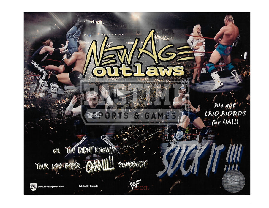 New Age Outlaws 8X10 WWF Wrestling (Photo Montage) - Pastime Sports & Games