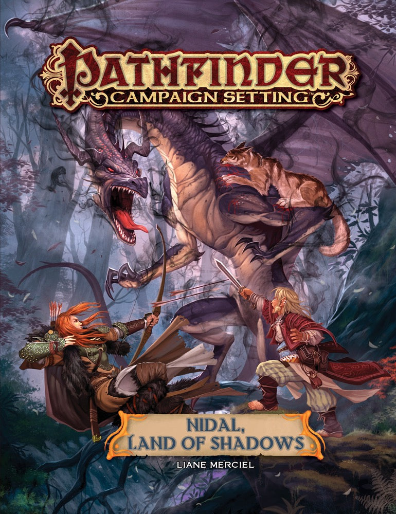 Pathfinder Campaign Setting Nidal, Land Of Shadows - Pastime Sports & Games