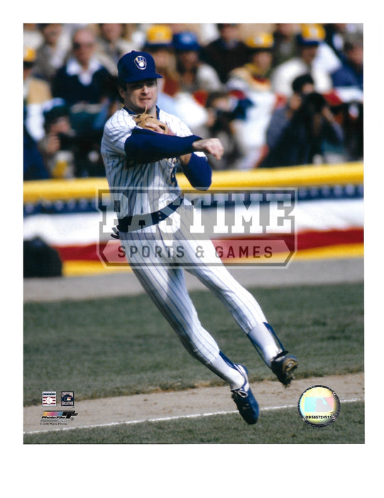 Paul Molitor 8X10 Milwaukee Brewers (Throwing Ball) - Pastime Sports & Games