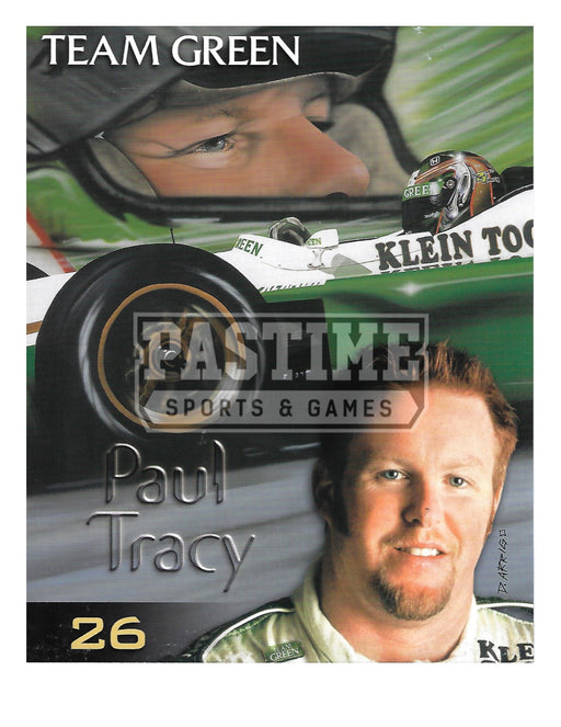 Paul Tracy 8X10 Racing (Photo Montage) - Pastime Sports & Games
