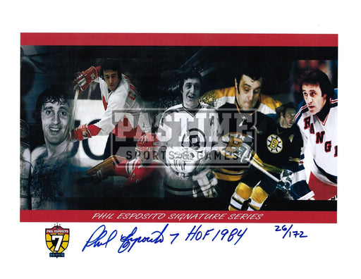 Phil Esposito Autographed 8X10 Photo Montage # out of 172 - Pastime Sports & Games