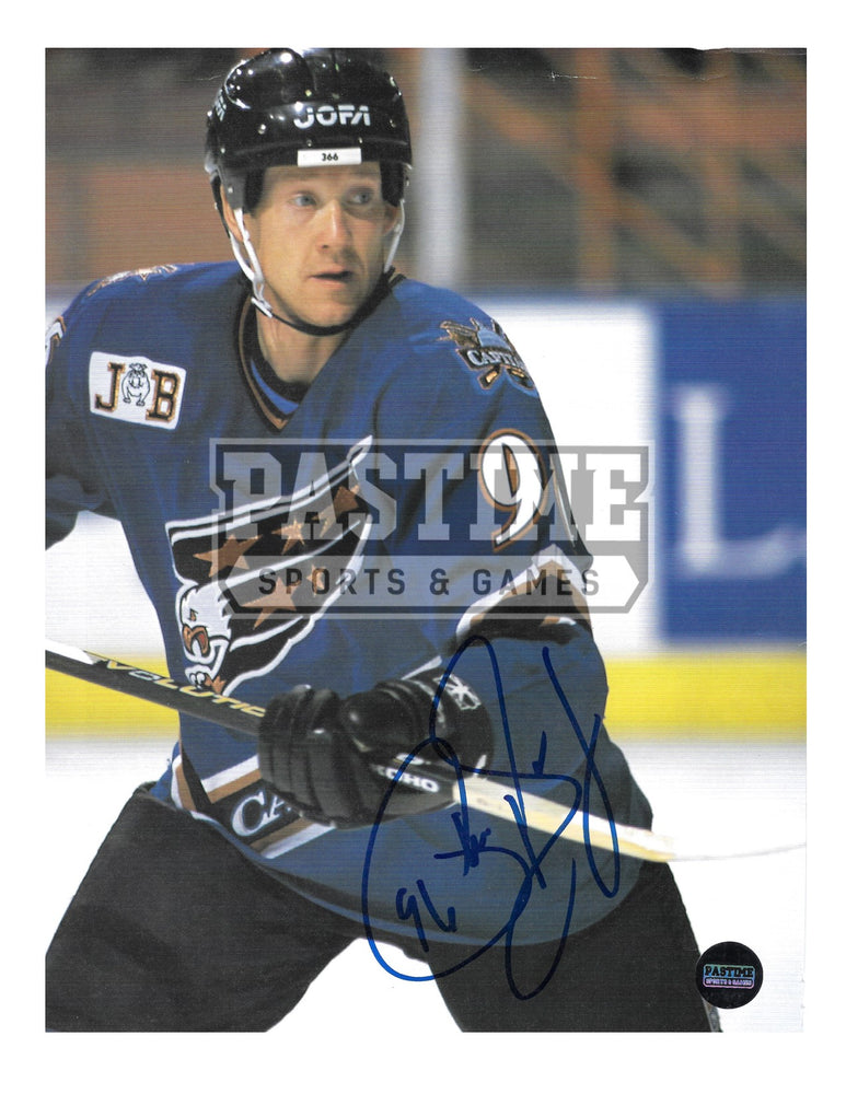 Phil Housley Autographed 8X10 Magazine Page Washington Capitals Home Jersey (Close Up) - Pastime Sports & Games