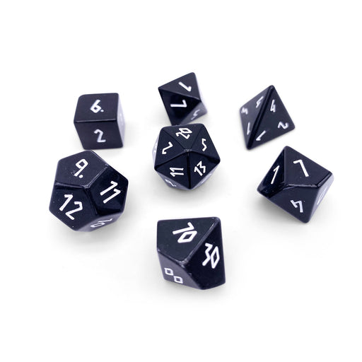 Norse Foundry 7pc RPG Gemstone Set Black Obsidian - Pastime Sports & Games