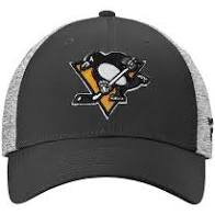 Pittsburgh Penguins Hockey Youth Stretch Hat (Black Adidas) - Pastime Sports & Games