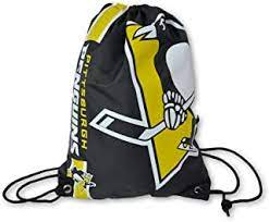 Pittsburgh Penguins Drawstring Bag Hockey (Black FOCO) - Pastime Sports & Games