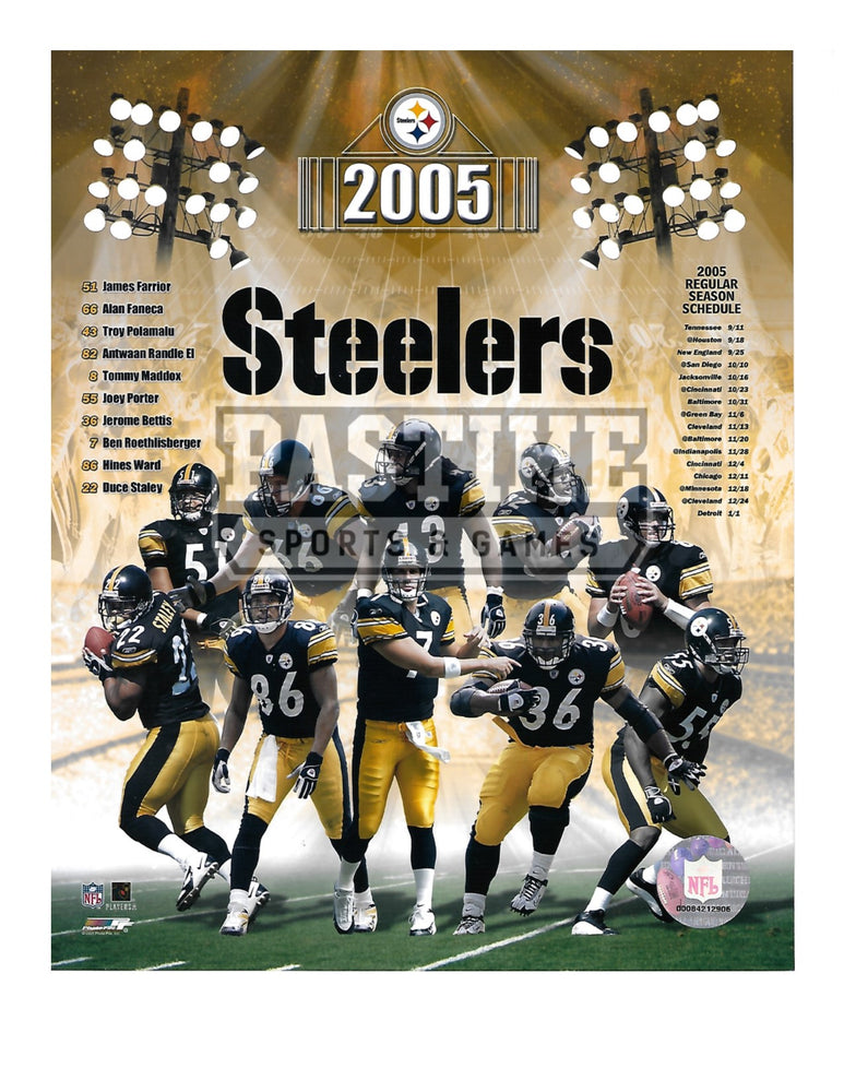 Pittsburgh Steelers 8X10 Player Montage (2005) - Pastime Sports & Games