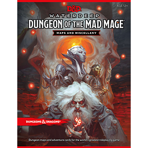 D&D Waterdeep Dungeon Of The Mad Mage Maps And Miscellany - Pastime Sports & Games