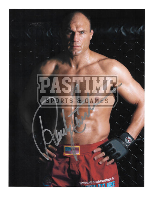 Randy Couture Autographed 8.5X11 UFC (Hands On Hips Pose 1) - Pastime Sports & Games