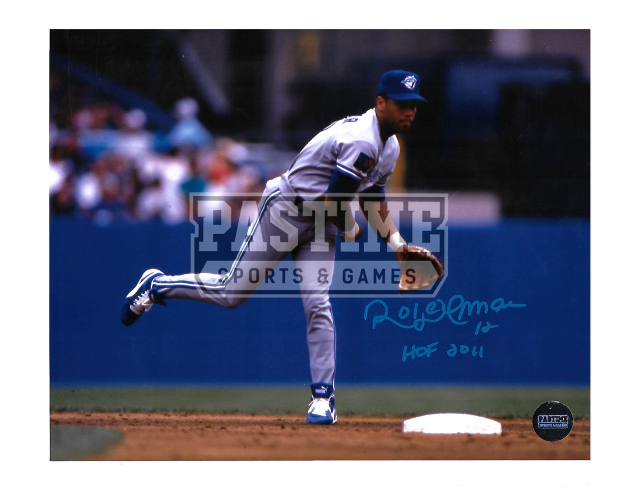 Roberto Alomar Autographed 8X10 Toronto Blue Jays (Throwing Ball) - Pastime Sports & Games