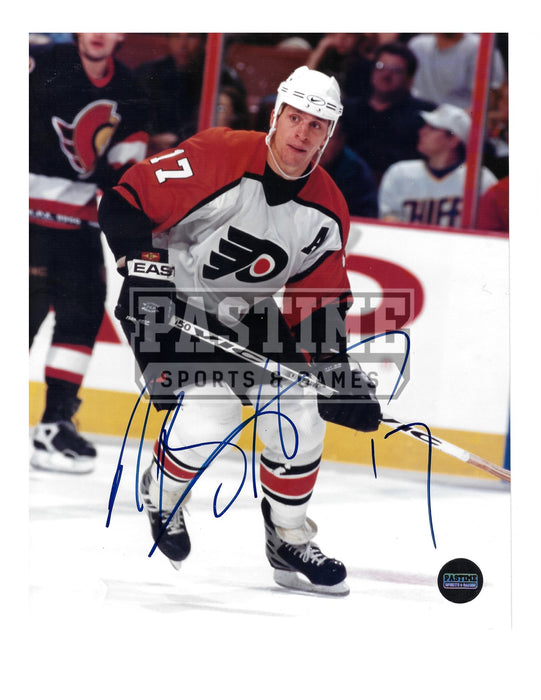 Rob Brind'amour Autographed 8X10 Philadelphia Flyers Away Jersey (Skating) - Pastime Sports & Games