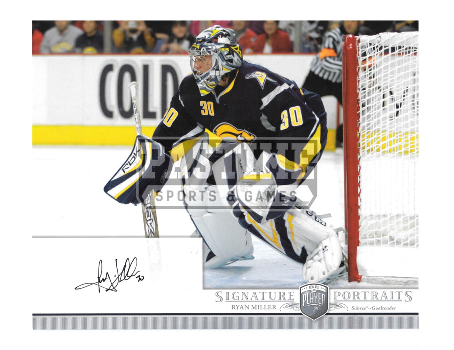 Ryan Miller Autographed 8X10 Buffalo Sabres Home Jersey (Signature Portraits) - Pastime Sports & Games