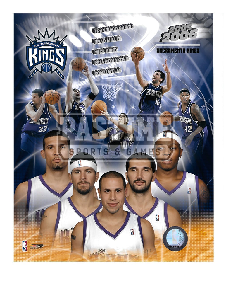 Sacramento Kings 8X10 Photo Montage (2005/06) - Pastime Sports & Games