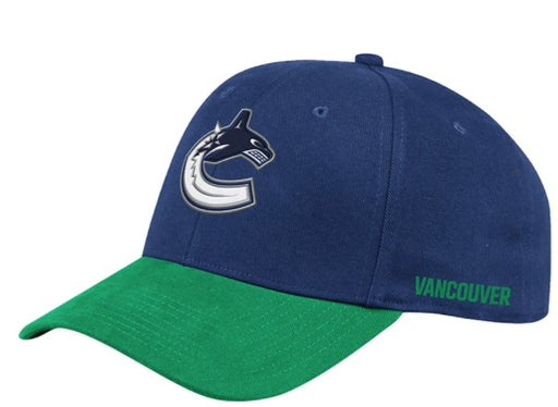 Vancouver Canucks Hockey City Flex Hat (Blue Adidas)