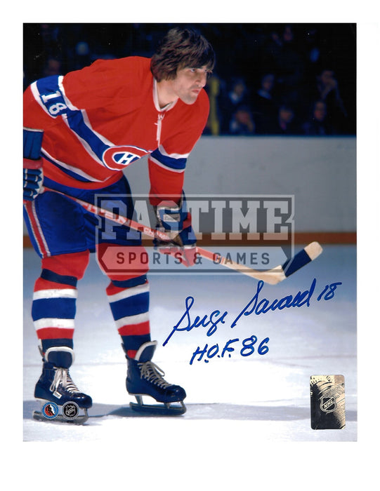 Serge Savard Autographed 8X10 Montreal Canadians Home Jersey (In Position) - Pastime Sports & Games