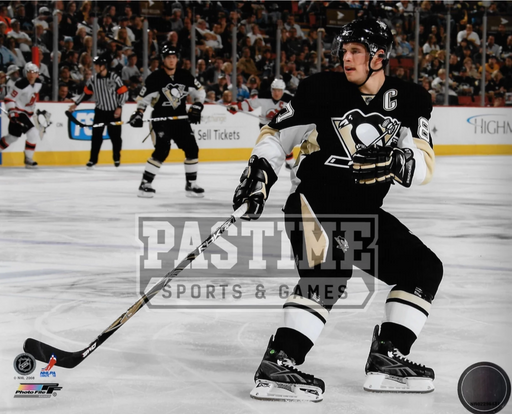 Sidney Crosby 8X10 Penguins Home Jersey (Jersey Devils in Background) - Pastime Sports & Games