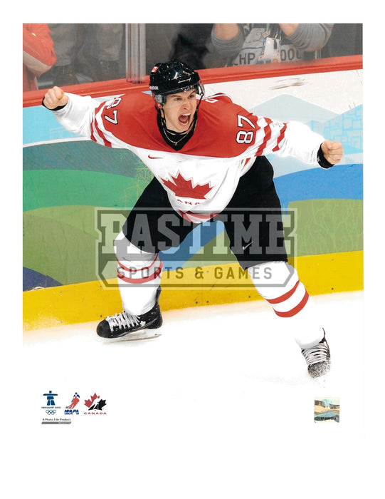 Sidney Crosby 8X10 Team Canada Away Jersey (Celebrating After Goal) - Pastime Sports & Games