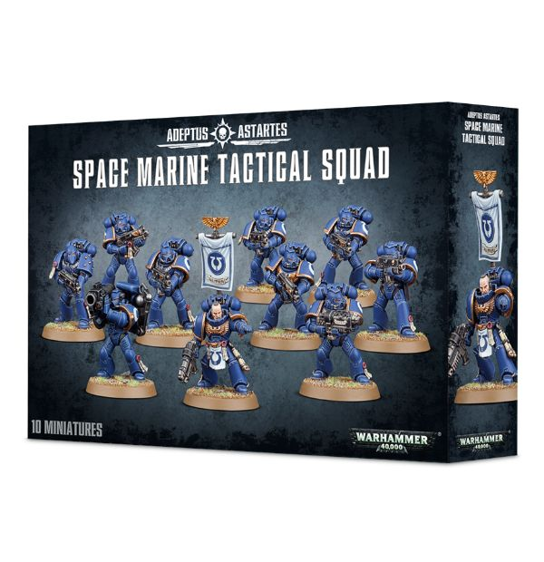 Warhammer 40,000 Adeptus Astartes Space Marine Tactical Squad (48-07) - Pastime Sports & Games