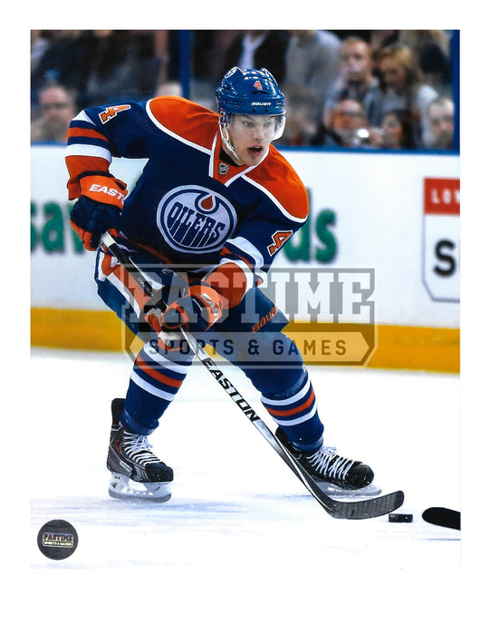 Taylor Hall 8X10 Edmonton Oilers Home Jersey (Skating With Puck) - Pastime Sports & Games