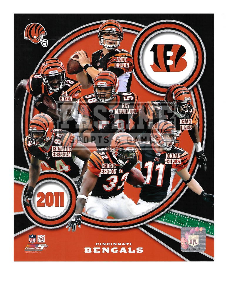 Cincinnati Bengals 8X10 Player Montage (2011) - Pastime Sports & Games