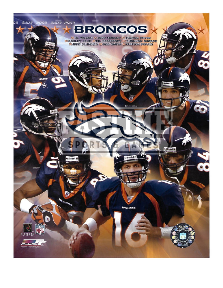 Denver Broncos 8X10 Player Montage (2003) - Pastime Sports & Games