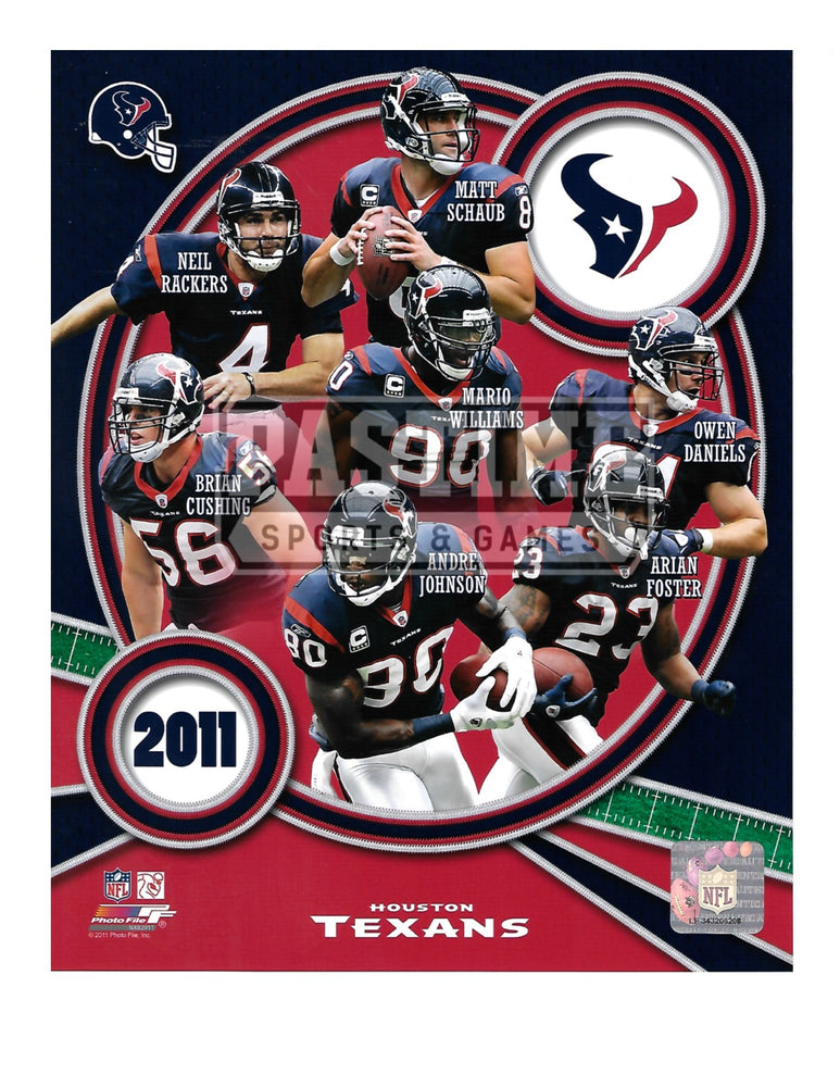 Houston Texans 8X10 Player Montage (2011) - Pastime Sports & Games